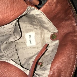 Margot cognac leather crossbody purse